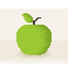Pixel Apple4 vector image vector image