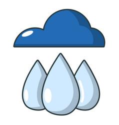 rain icon cartoon style vector image