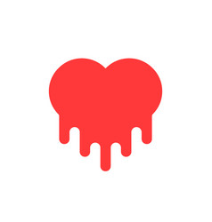 red bleeding heart icon vector image