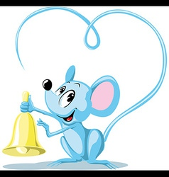 ringing mouse vector image vector image