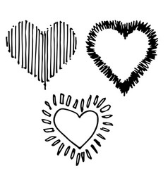 Set of design heart shaped vector