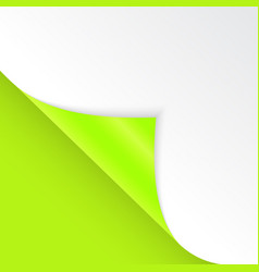 Shape of bent angle is free for filling green vector