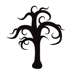 silhouette of a tree without foliage vector image