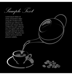 sketchy coffee with cup vector image
