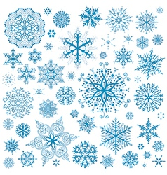 Snowflakes Christmas icons vector image