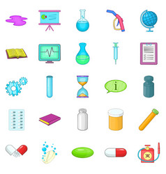Substance icons set cartoon style vector