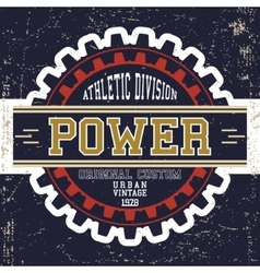 Vintage power poster vector image