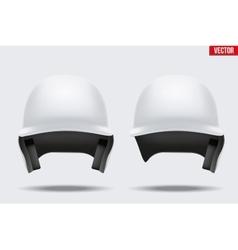 White baseball helmet vector image vector image