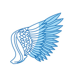 wing feathers bird freedom fly image vector image vector image
