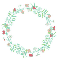 wreaths branches laurels with herbs plants and vector image vector image