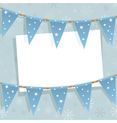 Winter bunting decoration vector