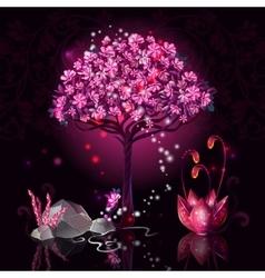 Cartoon Tree Composition vector image