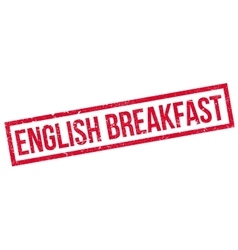 English breakfast rubber stamp vector