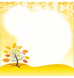 A blank space with an autumn tree vector