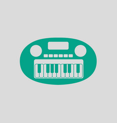 Synthesizer toy ico vector