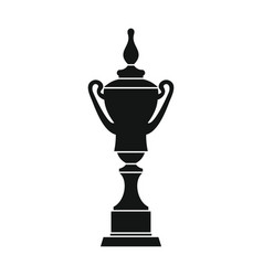 Champion cup for winner in silhouette style vector