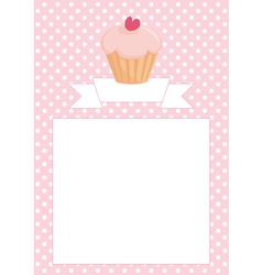 Restaurant menu wedding card list or baby shower vector
