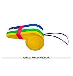 A whistle of central african republic flag vector