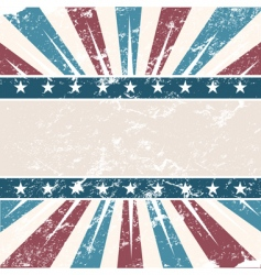 old USA colors frame grunge vector image