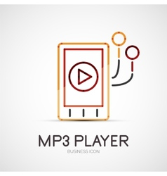Mp3 player company logo business concept vector
