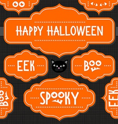 Halloween document template vector