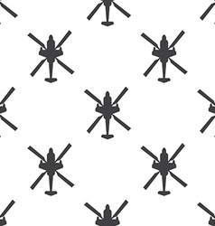 Helicopter seamless pattern vector