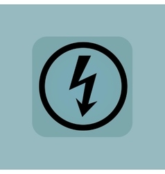 Pale blue voltage sign vector