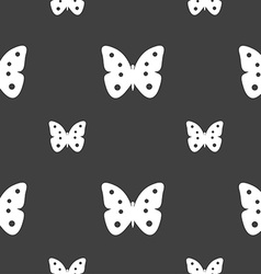 Butterfly sign icon insect symbol seamless pattern vector