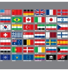 Popular Flags vector image