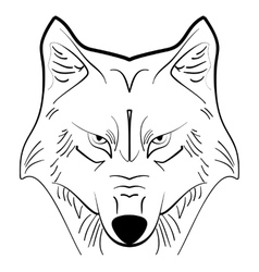 Wolf tattoo ink sketch vector image