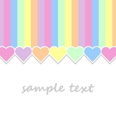 baby background with pastel colors hearts vector image vector image