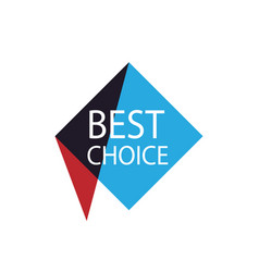 Best choice isolated sticker vector
