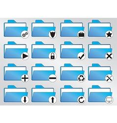 Blue folders vector