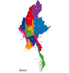 Burma map vector image vector image
