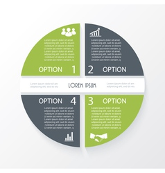 Business concept design with circle 4 segments vector