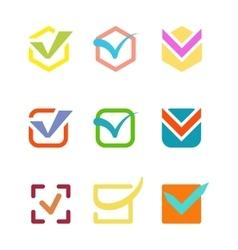 Check vote icon button vector image vector image