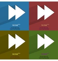 Color set multimedia control Flat modern web vector image