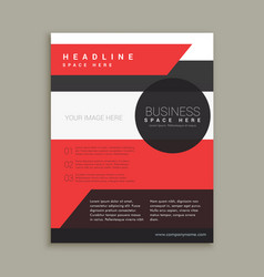 Company business brochure template in red black vector