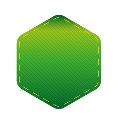 Empty Hexagon patch sticker vector image vector image