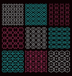 Fine seamless patterns vector image vector image