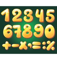 hand drawn numerals vector image vector image