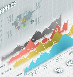 Infographic histogram set elements in various vector