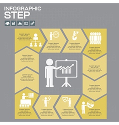 infographic template for diagram vector image