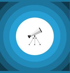 Isolated telescope flat icon scope element vector