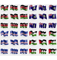 Kenya virginislandsuk cape verde western sahara vector
