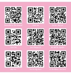 Love qr codes vector