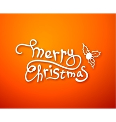 Merry christmas lettering calligraphy greeting vector image vector image