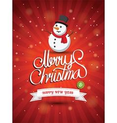 Merry christmas2 vector image