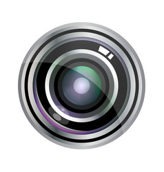 Modern realistic lens design isolated on white vector