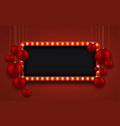 modern retro billboard background with red vector image